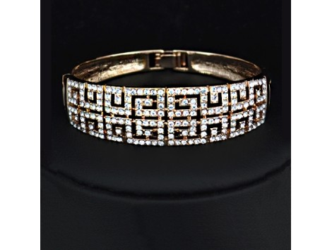 Zlata zapestnica prestige s kristali
