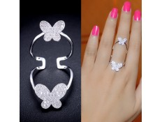 "Ring Gold or white gold ""Butterfly"""