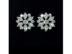 "Earrings White gold ""Flower Power"""