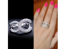 "Ring White Gold ""Infinity"""