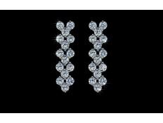 Viseči uhani s kristali