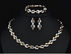 "Jewelry Set ""Knitted Gold"""
