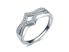 "Silver Ring ""925 Crystals"""